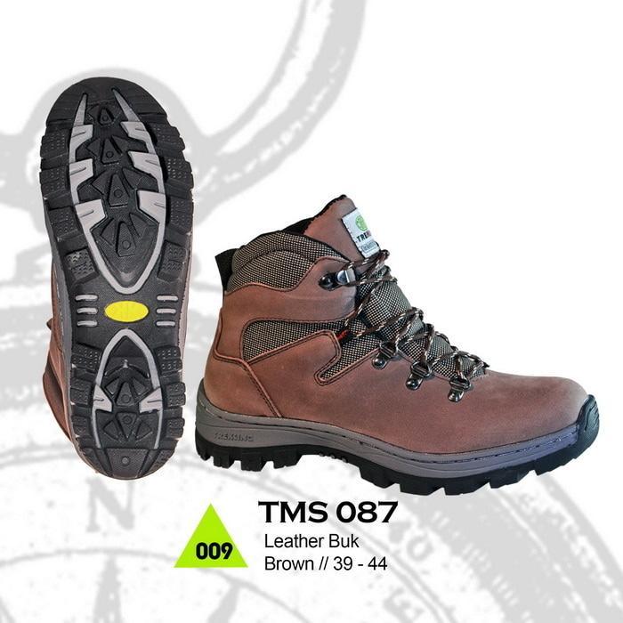 Jual Sepatu Boots Outdoor Dan Hikking Pria Kulit Cibaduyut ATMS 087 W