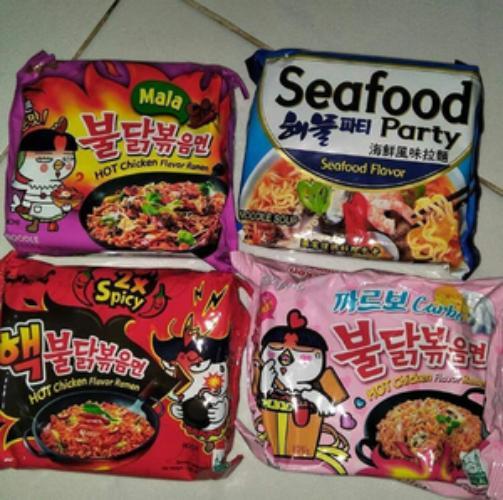 Paket mix samyang /samyang carbonara / samyang mala /samyang 2x spicy Paket mix samyang /samyang carbonara / samyang mala /samyang 2x spicy