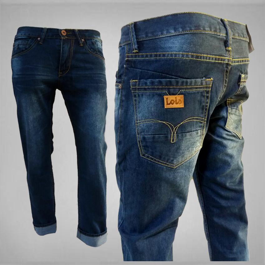 Celana panjang pria-Model Reguler / Jeans Pria Lois Standar Bahan Jeans Denim
