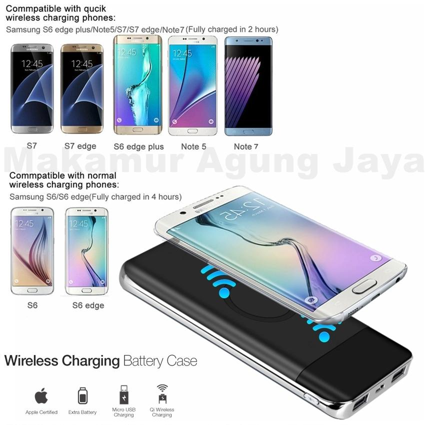 MAJ Powerbank wireless series Q3 new pertama di indonesia 10000mAh Support for android - ios Compatible for Samsung galaxy Note 8, S8, S8+, S7, S7 Edge, Note 5, S6, S6 Edge, Apple: iPhone X, iPhone 8, iPhone 8+