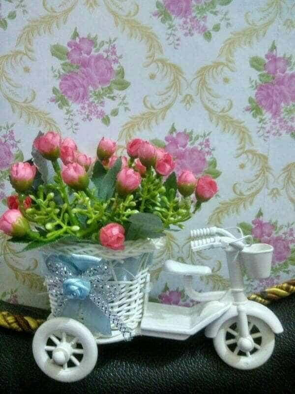 Bunga Plastik Sepeda Hiasan Meja Ruang Tamu Sqaref