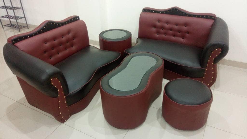 sofa sudut set komplit meja murah