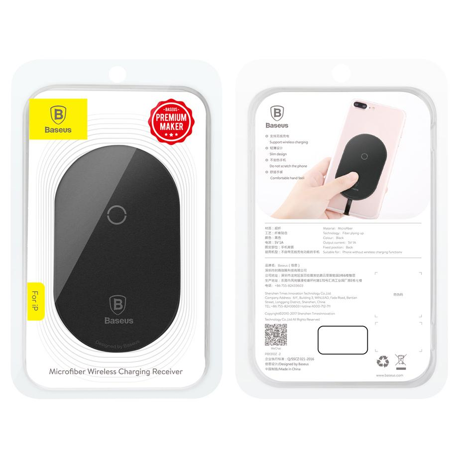 Baseus Qi Wireless Charging Receiver Micro USB - Black - 2 ...