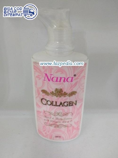 Laz COD - Nana Collagen Whitening Lotion Bpom 250ml / Colagen Whitening Lotion Diperkaya Vitamin B3 / Putih - Lazpedia