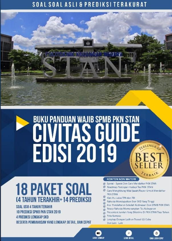 BUKU PANDUAN WAJIB USM PKN STAN EDISI 2019 CIVITAS GUIDE 20 PAKET SOAL
