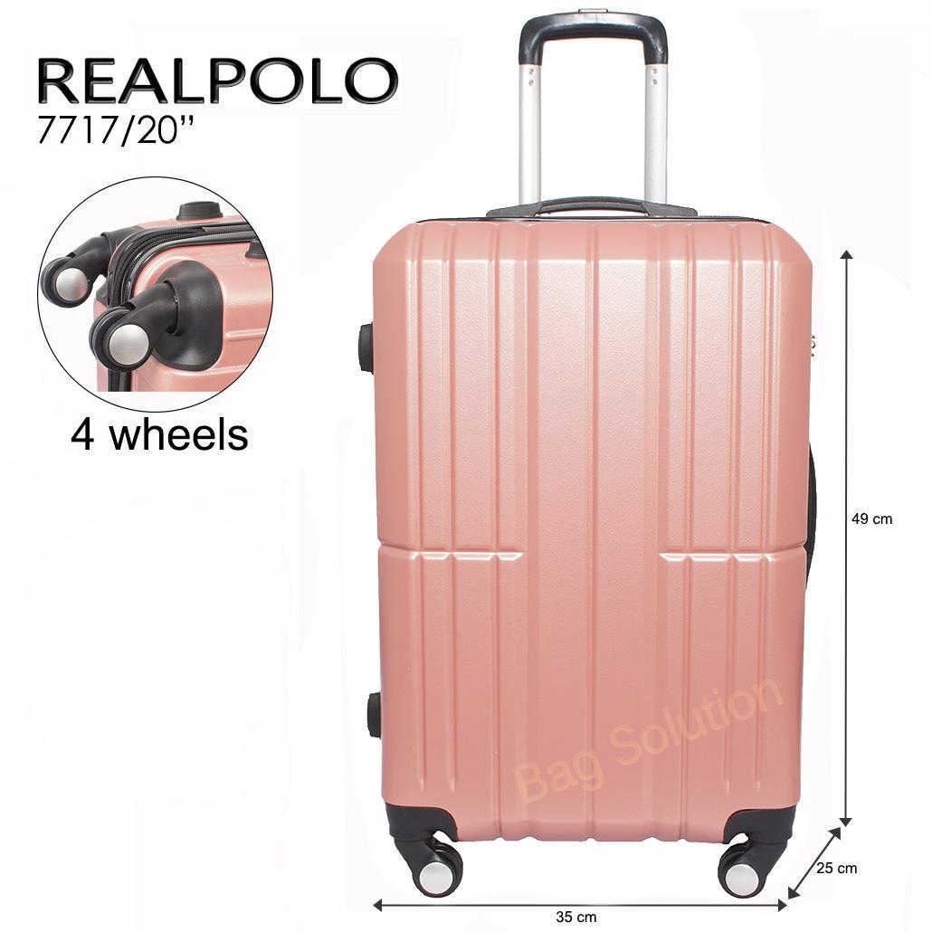 Real Polo Tas Koper Kabin Hardcase Fiber ABS - 4 Roda Putar - Size 20 Inch RPM