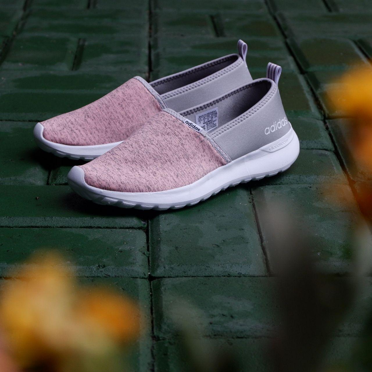 Sepatu Adidas ORIGINAL Cloudfoam Neo Lite Racer Slip-On Peach Grey  Peach  Pink 60050847b7