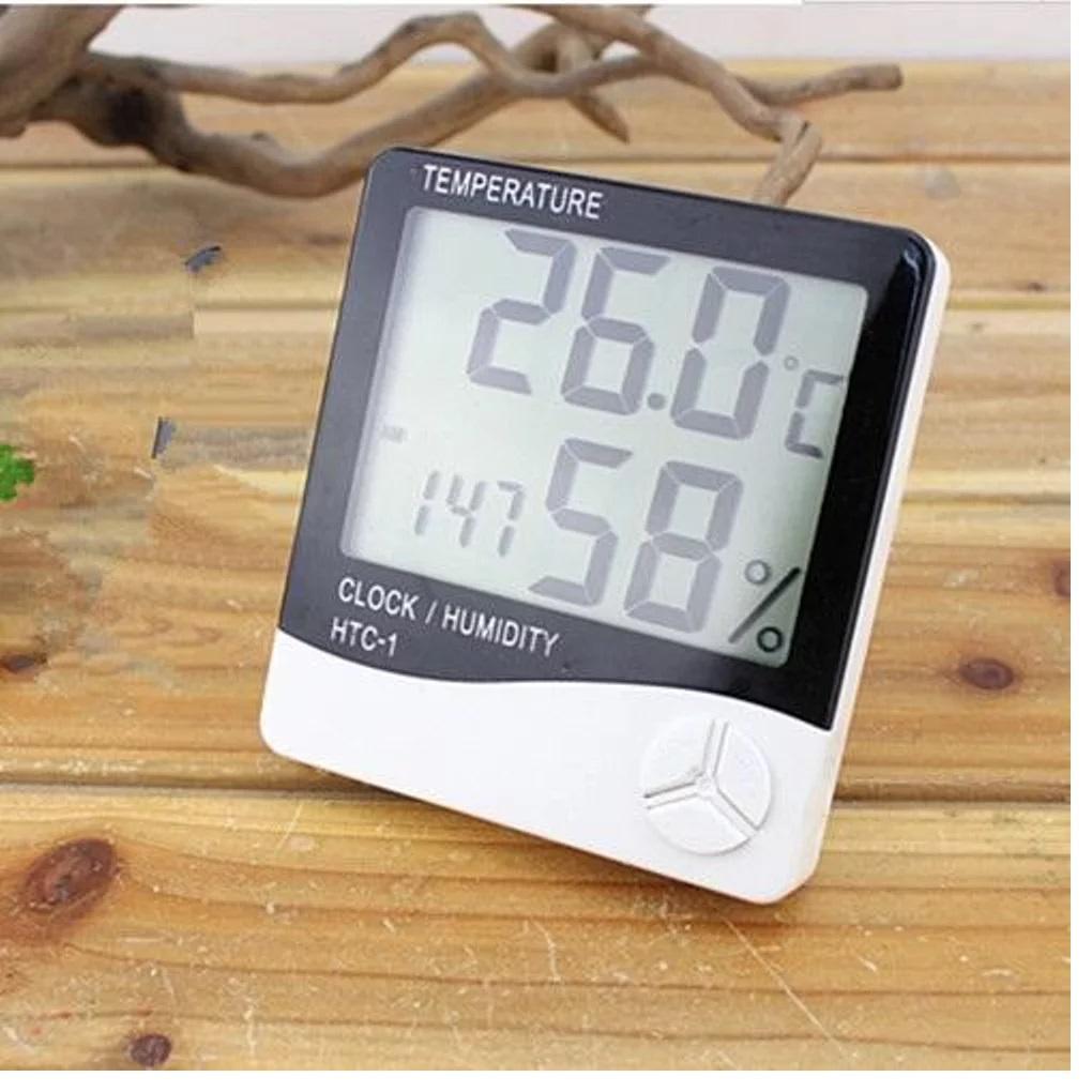 Aukey Thermometer Hygrometer Analog Tester Pengukuran Menempel Di Termometer Putih Htc 1 Suhu Lembab Higrometer Htc1
