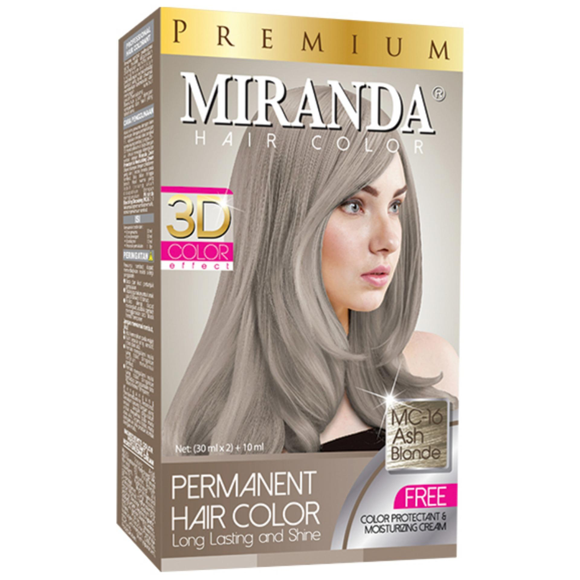 Miranda Permanent Hair Color Cat Rambut MC-16 - Ash Blonde