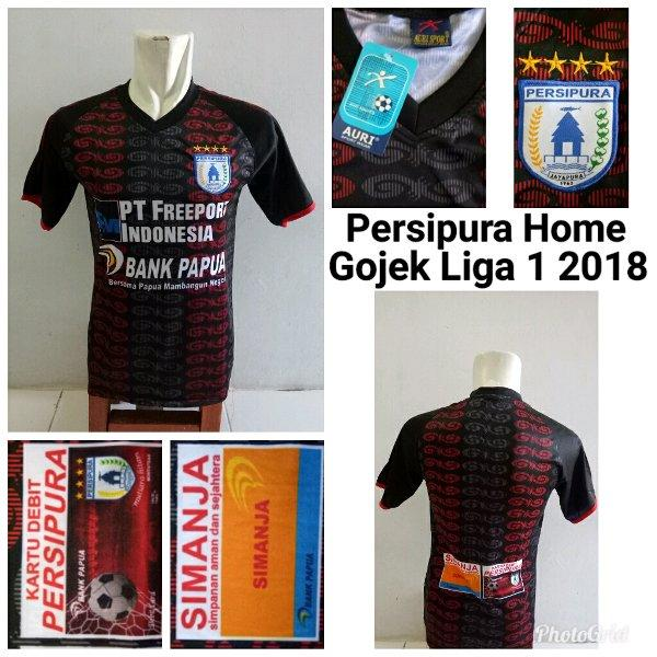 ebabbf0bea4 jersey persipura jayapura home gojel liga 1 2018 printing size ukuran jumbo  xl baju bola kaos