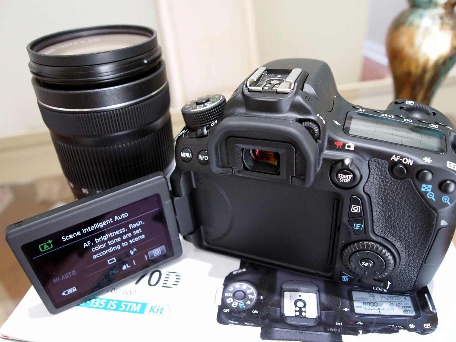 Kelebihan Canon 70d Wifi 18 135 Stm Terkini Daftar Harga Dan Eos Lensa 55 Is Dslr Kit 5