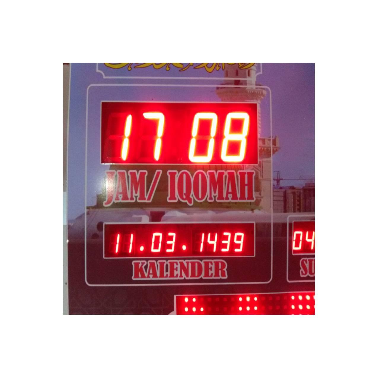 jam masjid waktu sholat digital + kalender hijriyah + timer iqomah