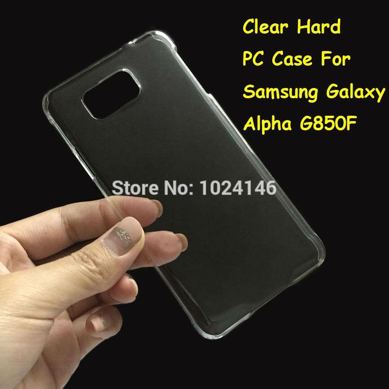 Clear Hard Case Casing Transparan Samsung Galaxy Alpha