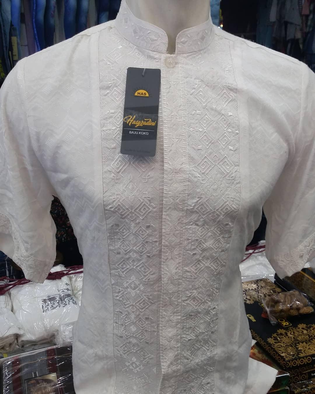 Baju Muslim Original Koko Bordir Timbuk Jaguar Import Atasan Pria Pakaian Lebaran Casual