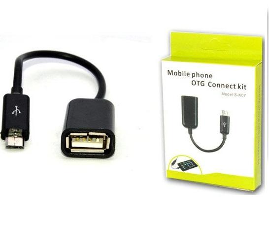 Kabel Micro USB OTG (On-The-Go) S-K07 Mobile Phone
