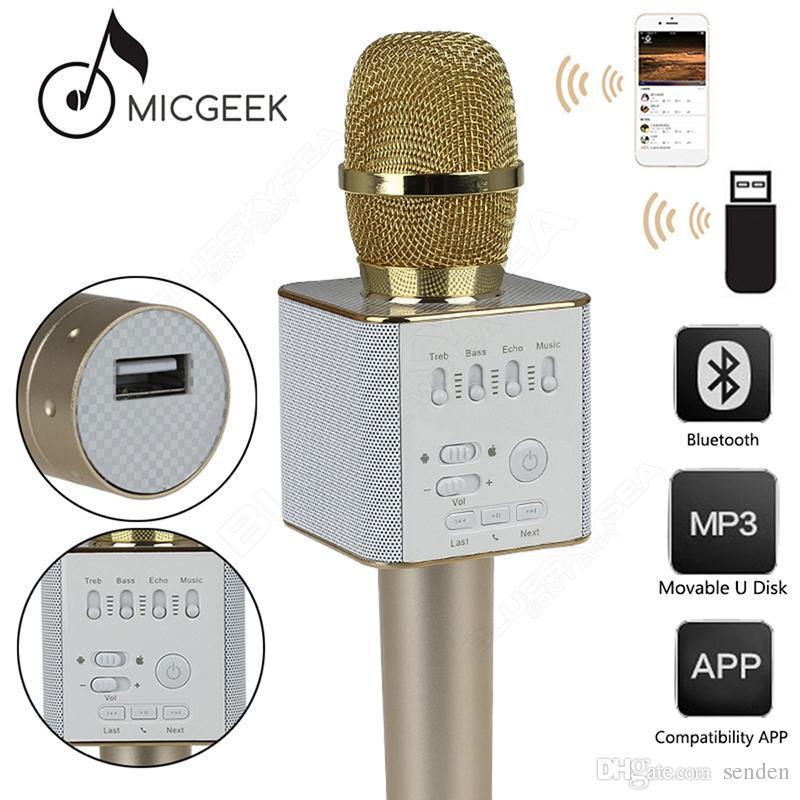 Mic Karaoke Wireless Q9 / Mic Smule / Mix Wireless Bluetooth / Mix Karaoke Murah