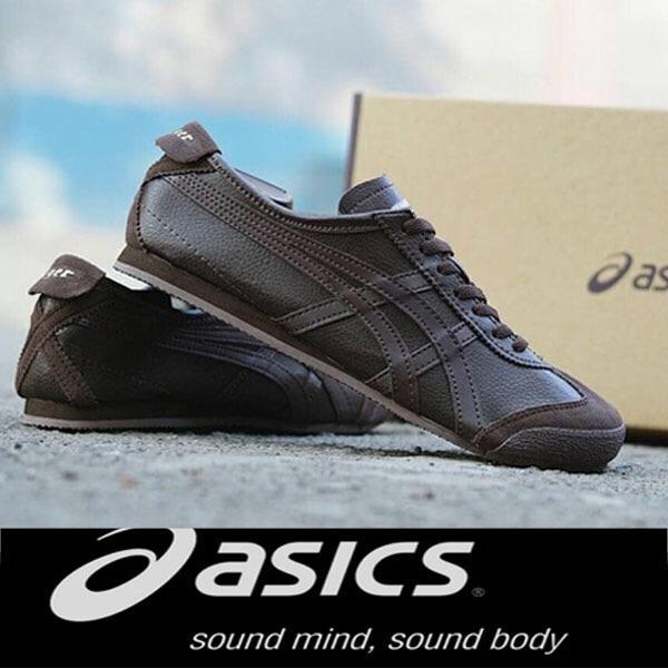 Sepatu sneakers asic tiger coklat best seller