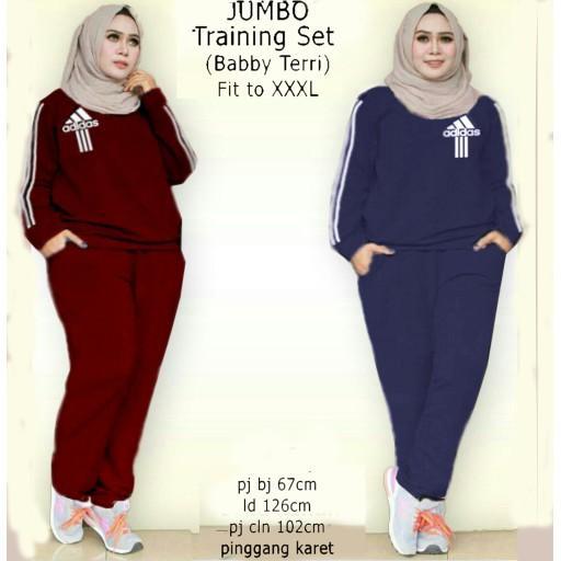Believe BMS 09 Setelan Baju Olahraga Wanita Muslim i.12530334.756660581 JUMBO Traning Set Adidas baj
