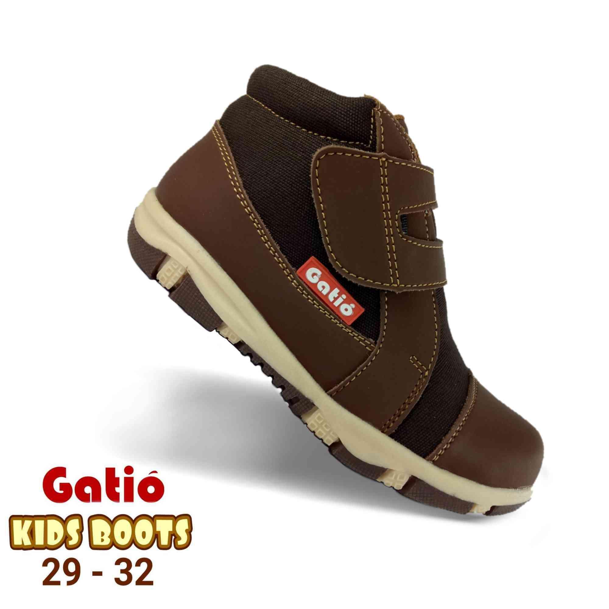Gatio / Sepatu Boots Anak Laki Laki Cowok / Sepatu Anak Boot Anti Licin / Sepatu Sekolah Boot Anak Playgrup TK / Sepatu Sneakers Anak laki laki / Sepatu Anak Boots Laki laki cowok 2 3 4 5 6 7 tahun / Sepatu anak ukuran 28 29 30 31 32