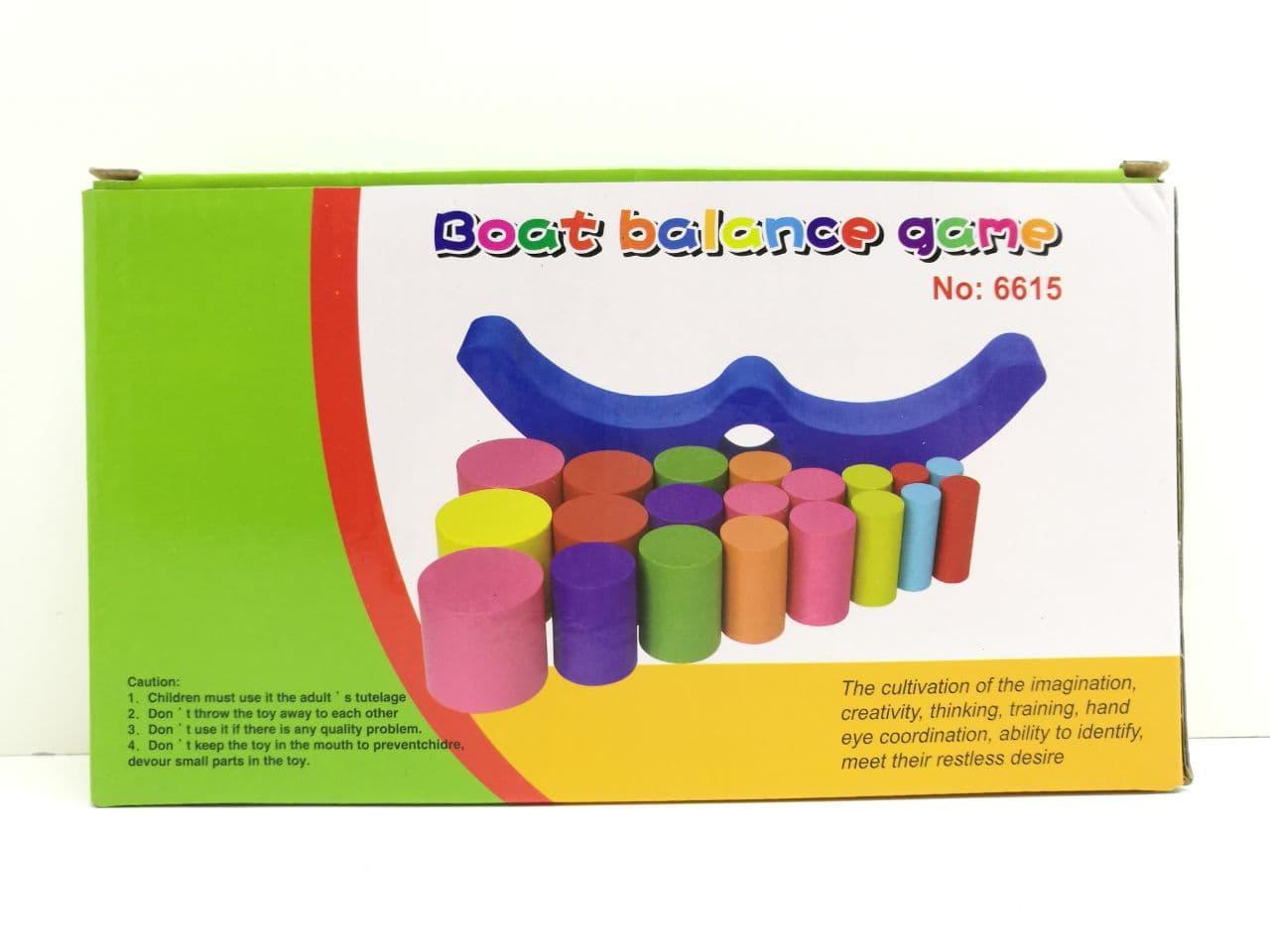 Mainan Edukatif Edukasi  Anak Boat Balance Game Timbangan Balok Kayu Wooden Toys
