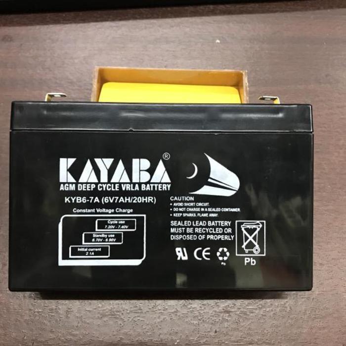 BEST SELLER!!! Battaery Kayaba 6V 7Ah Aki mobil mainan aki motor maian anak anak - dagRds