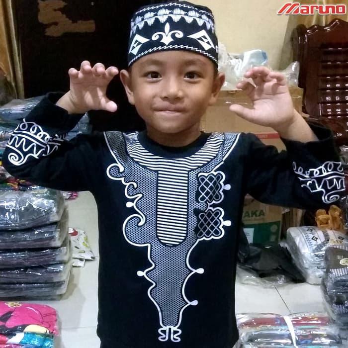 Jual Baju Koko BLACK PANTHER Pakaian Muslim Anak Laki Premium Mewah MARUNO - II-IV Tahun Baju Koko BLACK PANTHER Pakaian Muslim Anak Laki Premium Mewah MARUNO - II-IV Tahun
