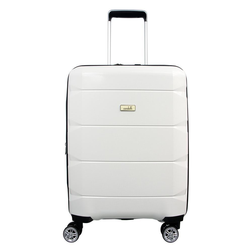Condotti 63103 - Tas Koper Kabin Hardcase 20 inch - White