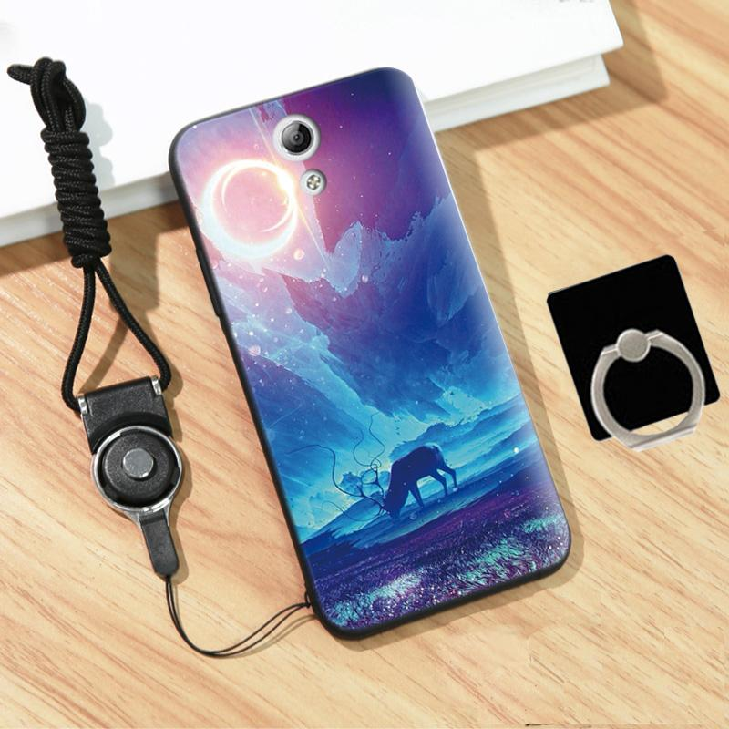 Silica Gel Soft Phone Case For VIVO Y33 with Ring and Rope (Multicolor)