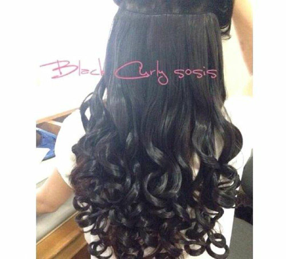 Hairclip Curly Sosis / Hairclip Keriting Gantung