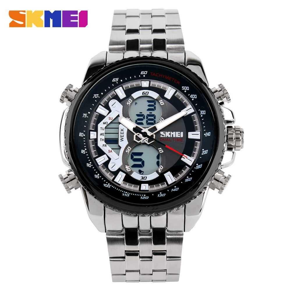 jam tangan pria casual SKMEI Casio Men Sport LED Watch Water Resistant 50m AD0993 - Hitam