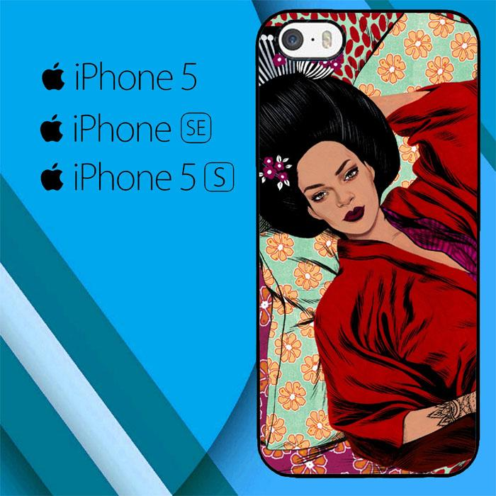 Rihanna Japan Animation S0249 iPhone 5|5S|SE Case