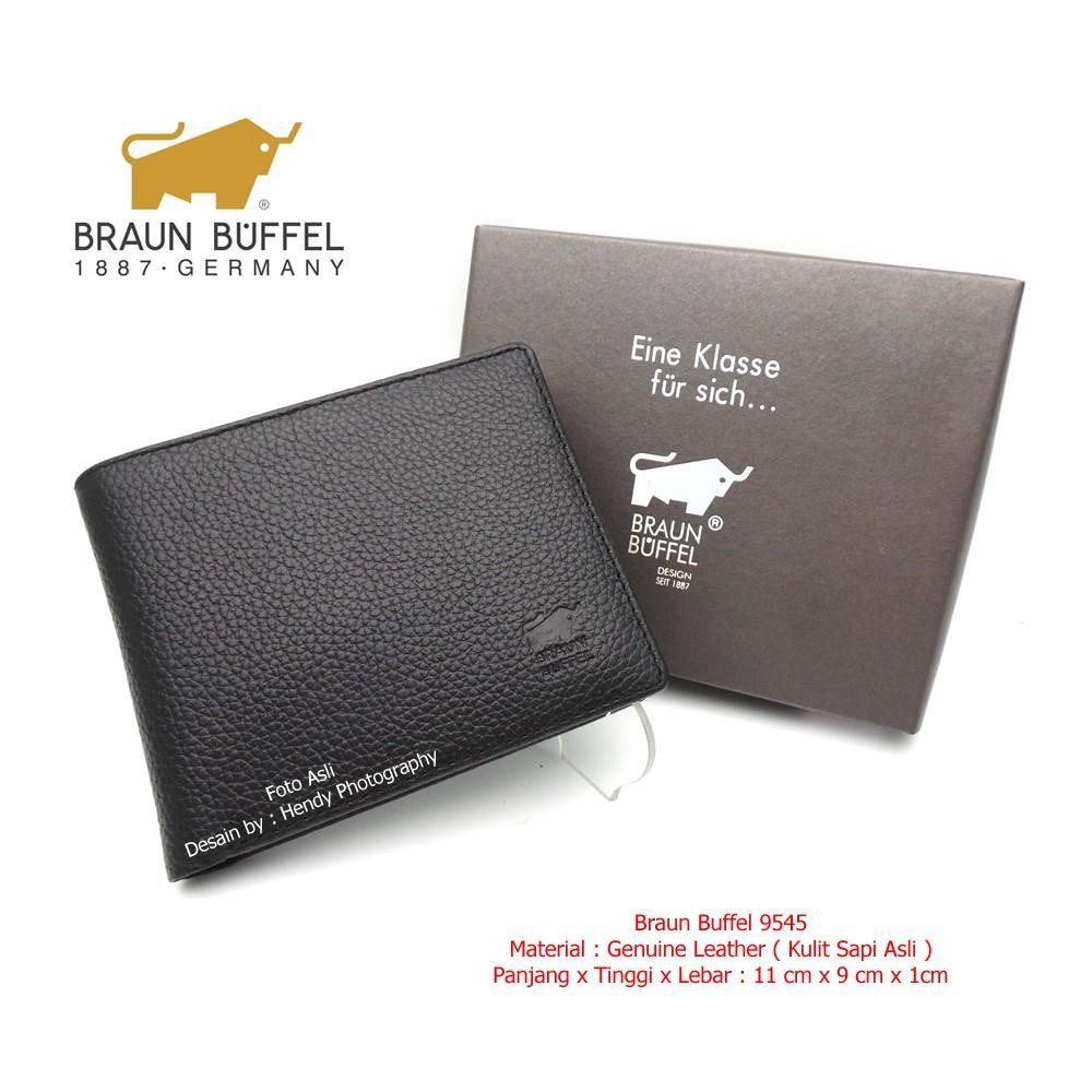 Dompet Pria Kulit Asli - Dompet Kulit BRAUN BUFFEL SH 9545 BLACK
