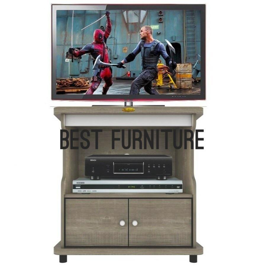 Best RC RTV0803 Rak TV Kecil dengan Rak Multifungsi uk60x60cm