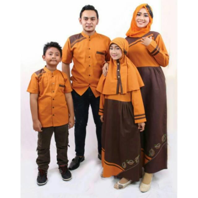 Seragam muslim couple keluarga sarimbit baju koko gamis ayah ibu dan anak murah terbaru branded gamis Xl