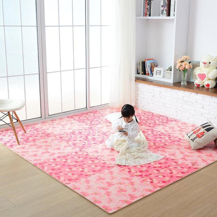 PALING DICARI Matras/Tikar/Karpet/ Puzzle alas lantai evamat/evamats motif Bunga TERLARIS