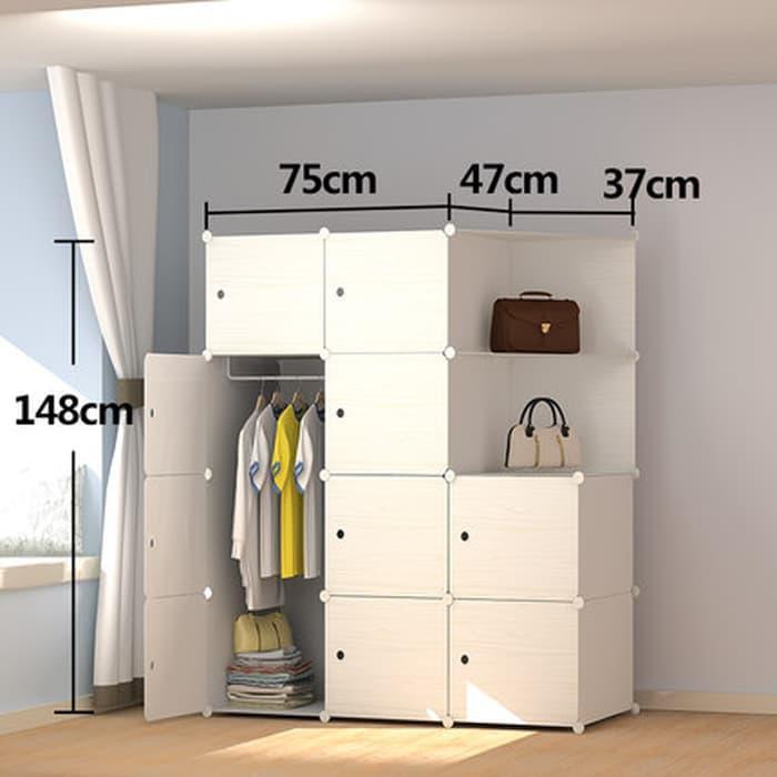 lemari susun rak furniture baju pakaian buku hard plastik dekorasi @ 3 pintu anak bayi kayu jati minimalis plastik gantung murah portable sliding