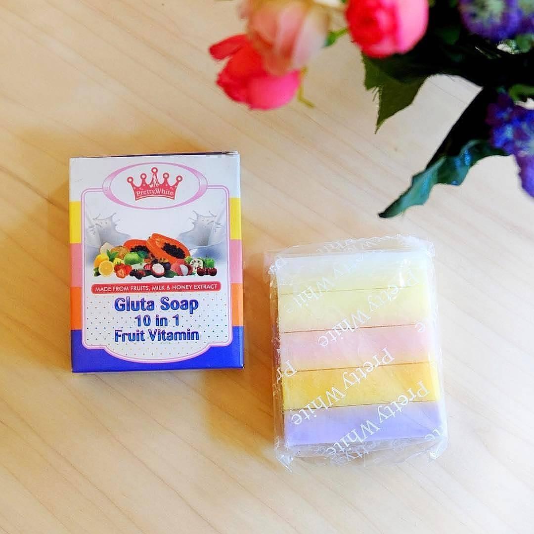 Kelebihan Best Seller Gluta Soap 10 In 1 Fruit Vitamin Sabun Fruity 10in1 Fruitamin Bpom Rainbow By Pretty White Thailand Buah