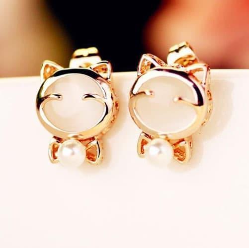 anting korea kucing cat studs earrings fashion accessories jan113