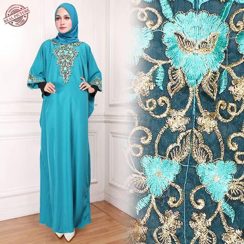 Glow Fashion Dress maxi panjang gamis kaftan wanita jumbo long dress Yena