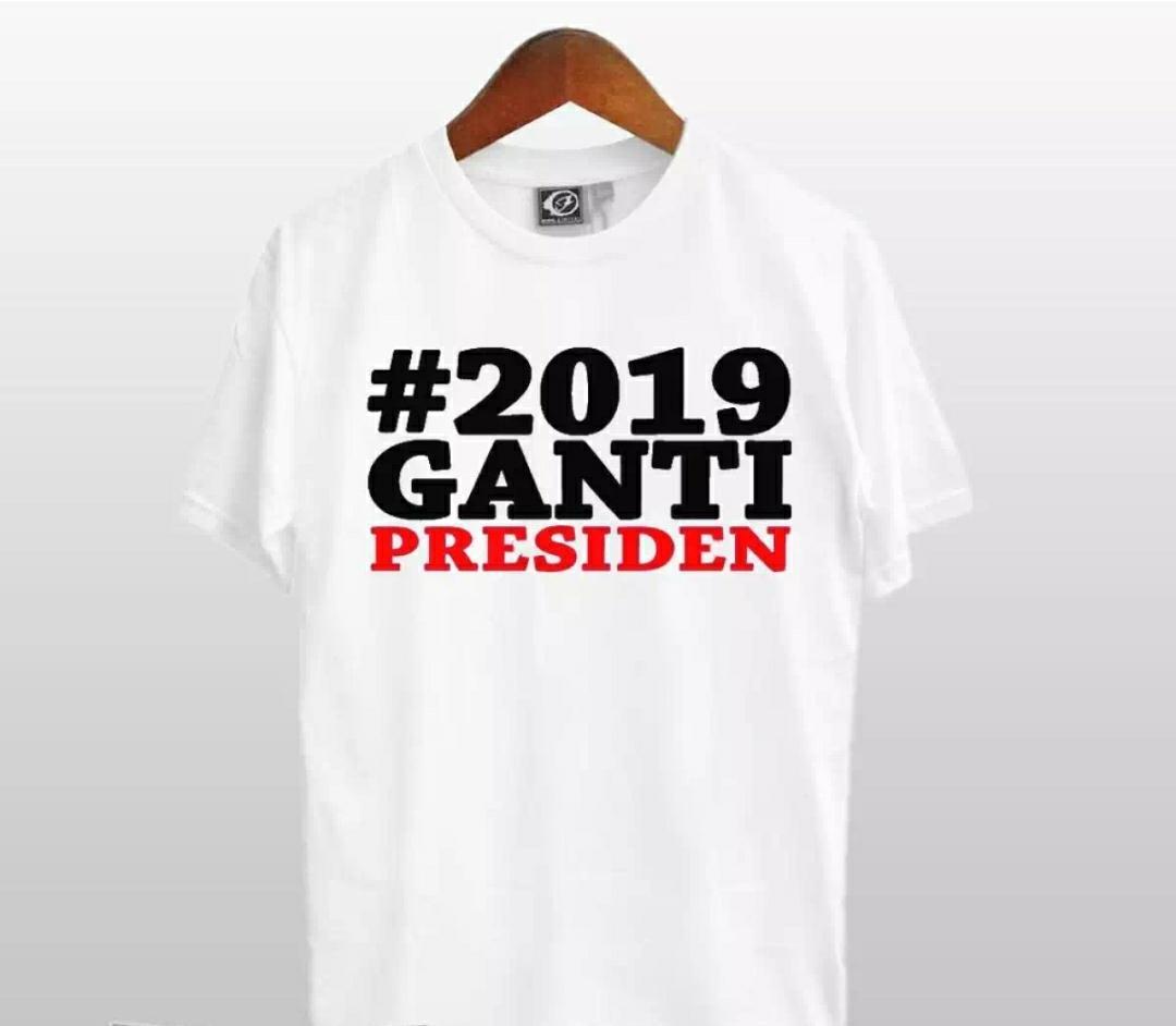 Beli Hemat Diskon Kaos 2019 Ganti Presiden S M L Xl Xxl Distro Number  Meriah Fashion T Shirt Baju Pakaian Pria
