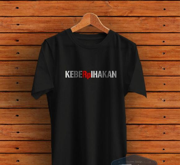 T-Shirt Premium. Kaos Distro Kata Unik KebeRPihakan