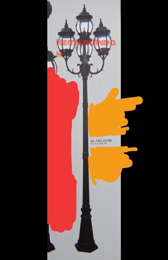 LAMPU TAMAN OUTDOOR 7003 A2/3M lampu gantung lampu gantung led lampu gantung ruang tamu lampu gantung minimalis lampu gantung kristal lampu hias lampu café lampuhiasgantungruangtamu lampu tumblr lampu hias