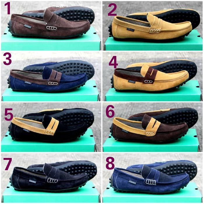 Promo sepatu clarks slop combin kulit suede santai pria original leather Diskon