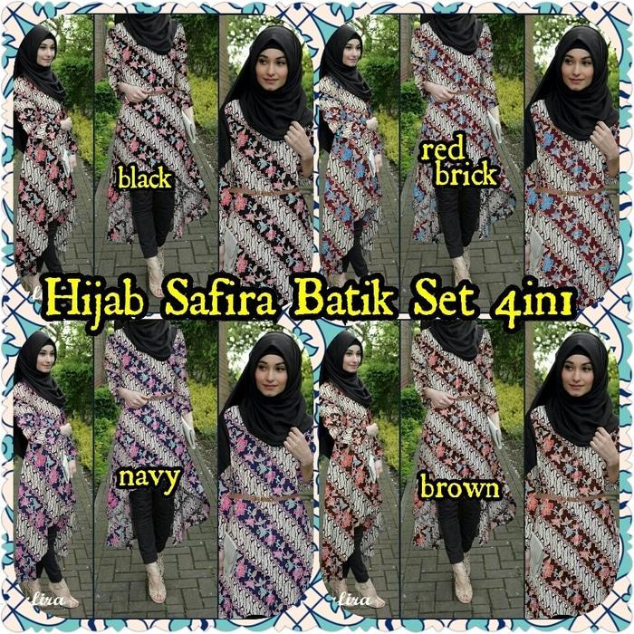 Hijab Sey 4In1 Safira Batik Flow Metris