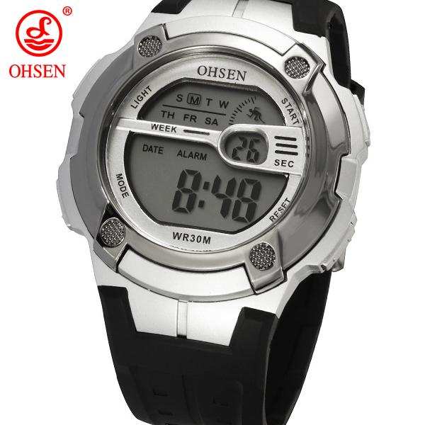 OHSEN 0923 New Relogio Fashion OHSEN Brand Mens Boys Digital Watch Men Sports Watches LED Back
