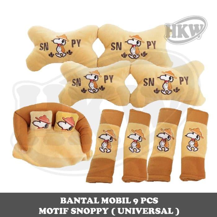 Bantal 9 Pcs Motif Snoopy Mobil Jimny Katana