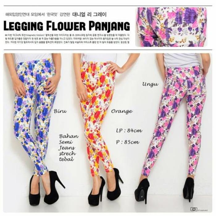 Legging Panjang Standard Motif Bunga