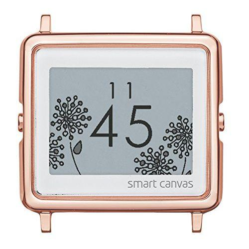 EPSON smart canvas head only Flower pink gold wristwatch W1HFL11010 Ladies