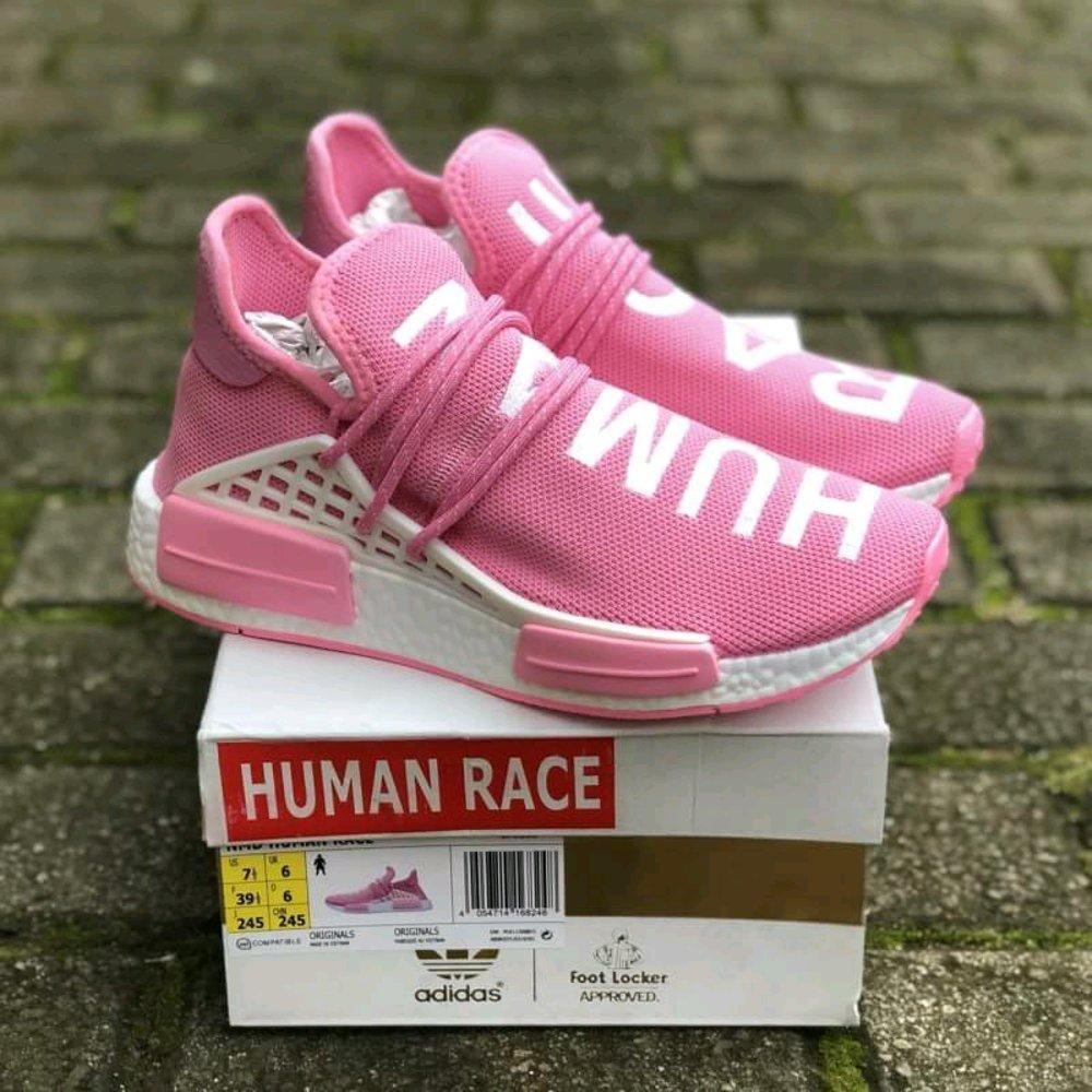 Promo Sepatu adidas human race pink sneaker wanita premium Diskon