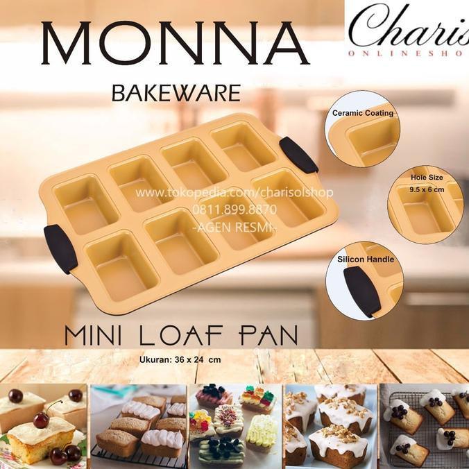 Signora Monna Bakeware - Mini Loaf Pan Loyang Kue Roti Unyil - Jgrsjkiu